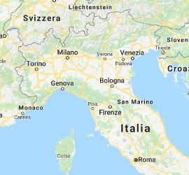 Karte Skiverleihe in Italien