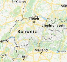 Karte Schweiz Skiverleihe